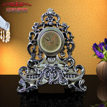 2016 Rushed European Style Retro Desktop Clock Watch Hollow Carved Ornaments Decorations, Holiday Gifts Home Furnishing Jewelry