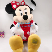 45cm Big Minnie Mouse With Dress Romantic Soft Cute Plush Toy Doll Baby Girl Gift Birthday Gift Collection(China)