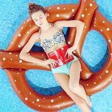 2 Colors! Inflatable Air Mattresses Bread Floating Row Design Gigantic Swimming Floating With Pump Adult Row Pool Toy Water Game