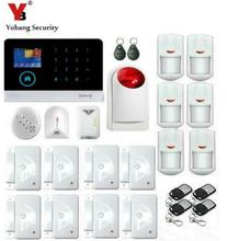 Yobang Security-APP Control WIFI GSM SMS Alarms Wireless Home Alarm Security System Gas Sensor Strobe Siren Glass Break Detector(China)