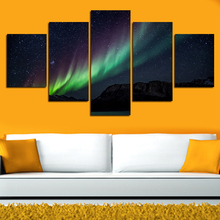 5 Pcs Wall Art Landscape Canvas Paintings Home Decor Night Sky Stars Pictures Mass Effect Canvas On Wall Cuadros Decoracion Gift