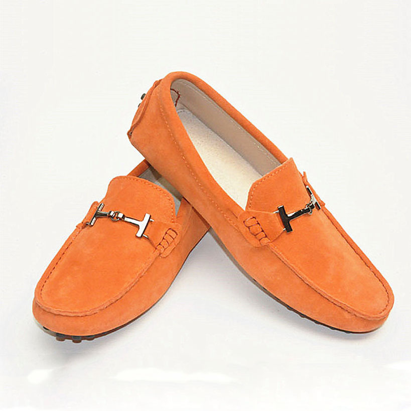 Handmade 100% Genuine leather Men Flat shoes Soft ...
