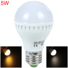 2pcs! E27 5W 220V 2835 LED Bulb White / Warm White Light Energy Saving Bulb Lamp for Home Furnishing Commercial Use
