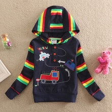 NEAT 2017 new hat sweater handsome sunspots plus colorful striped decoration cartoon car pattern casual novel style L1008#