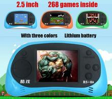 "New 2016 Coolbaby RS-8A 8 Bit 2.5"" handheld game console Built-in 260 Different Games Video Game Console Children Christmas gift"