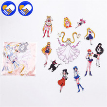 A TOY A DREAM Pretty Guardian Sailor Moon Crystal Sticker Decal For Car styling Bicycle Motorcycle Notebook Waterproof Stickers