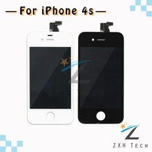 50 PCS/LOT No Dead Pixel White & Black Display for iPhone 4S Screen Replacement with LCD Ecran Free DHL Ship