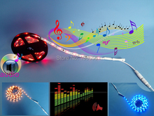 DC 12v WS2811S intelligent audio Music led strip light full color rgb no need music controller directly to dc12v power supply