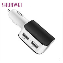 Lighter Socket Splitter Charger 3.1A 2 USB Car Cigarette Power Adapter for Samsung galaxy s7 Edge  quality fashion 17may12