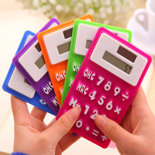 Portable foldable silicone mini 8 digital calculator Solar Energy Soft keyboard Creative Magnetic adsorption HY392