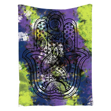 indian mandala wall hanging tapestry 2017 fashion Polyester beach towel muslim hamsa hand  tapestry tenture murale