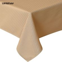 UFRIDAY New Gold Tablecloth Tafelkleed Modern Rectangular Table Cloth Hotel Party Wedding Dining Coffee Waterproof Tableclothes