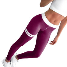 running tights women yoga pants high waist fitness legging women sexy Elastic  yoga leggings Workout Sports tights pants