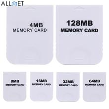 4MB 8MB 16MB 32MB 64MB 128MB Practical White Memory Card for Nintendo Wii Gamecube GC Game Memory Cards