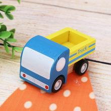 Wooden Car Toys Pull Back Car New Mini Wooden Truck Toys Vehicles Diecast Toys Track Train Cabin Set for Children(China)