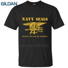 Light for men t-shirt O-Neck Animal Navy Seals Never Quit Graphic black tee shirts Clothing mens cool t shirts Basic 100% cotton