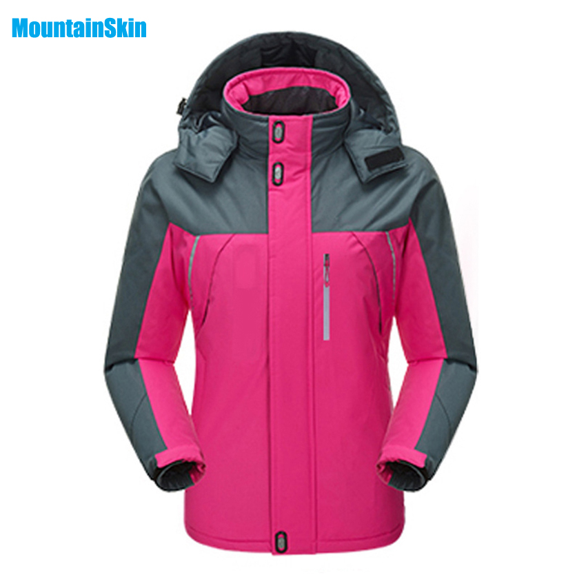 2017 Womens Winter Fleece Thermal Waterproof Jackets Outdoor Coats Sport Brand Clothing Hiking Skiing Camping Female Coat MB060<br>