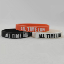 300pcs All time low wristband silicone bracelets free shipping by DHL express(China)