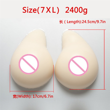 Buy White Artificial Breast Form 2400g/Pair Crossdress Drag Queen Fake Boobs Shemale Transvestite False Boobs Silicone Breast