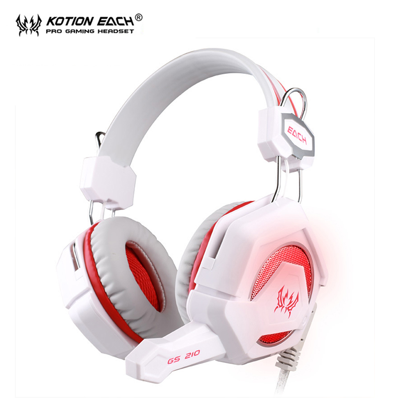 KOTION EACH GS 210 headphones earphone headset bluedio earphones gaming headset Wired stereo Bass LED microphone for pc gamer<br><br>Aliexpress