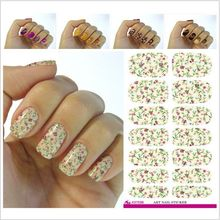 2017 Top Fashion Hot Sale V613 Water Transfer Nail Foil Sticker Pink Peony Flower Design Stickers Decals Decorating Tools