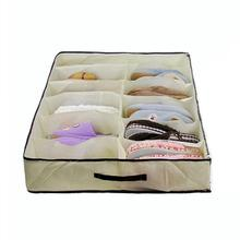 Household Moistureproof Breathable PVC Transparent Thin Film Lid Non Woven Shoes Storage Bag Travel Storage Box Organizers
