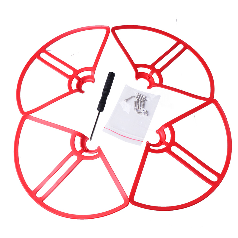 4x Propeller Protective Ring Prop Guard Cover w// Cable Kit for DJI Phantom 4