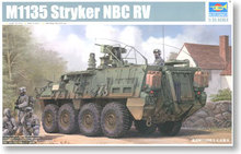 "Trumpeter 1/35 scale model 01560 US Army M1135 ""Stricker"" wheeled armored nuclear reconnaissance type"