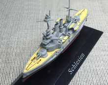 Special offer rare deagostin 1: 1250 German Navy Dreadnaught battleship battleship model No. 1908 Silesia Favorites Model