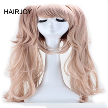 HAIRJOY Light Pink Hair Long Straight Synthetic with 2 Removeable Ponytails Girl's Costume Party Cosplay Wig Free Shipping