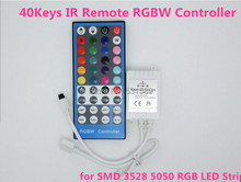 40Key DC 12V-24V 6A IR Infrared Music Remote Controller Dimmer Sound Control 20 Colors for RGBW LED Strip Light 5-Pins