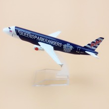 16cm Alloy Metal Air Asia Queens Park Rangers QPR Airbus 320 A320 Airlines Model Aircraft Airplane Model Plane Model W Stand
