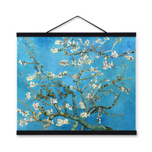 Vincent Van Gogh Famous Blue Modern Impressionist Flowers Poster Prints Original White Floral Canvas Oil Paintings Wall Art Gift(China)