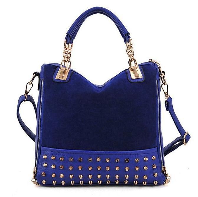 Luxury Rivet suede messenger bag 2017 hot sale women vintage nubuck leather zipper large designer handbag sac femme de marque 45<br><br>Aliexpress