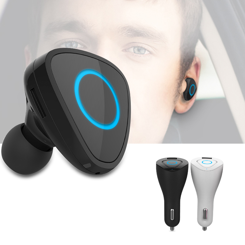 Wireless Bluetooth 4.0 handfree earphone and Car Charger, 2 in1 Led display Bluetooth headset and smart  2.1A fast phone charger<br><br>Aliexpress