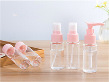 5Pcs/Set Compact Lightweight Portable Plastic Travel Cosmetics Bottling Suit Pressed Bottle Perfume Spray Bottle(China)