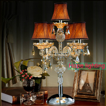 contemporary table lamps with fabric lampshade crystal Table Lamp wedding decoration centerpieces crystal desk lamps bedroom