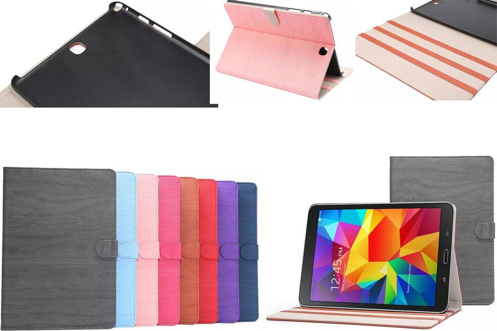 wood grain case For samsung galaxy tab A T550 9.7 tablet books, pc + Leather stand T550 cover case New<br><br>Aliexpress