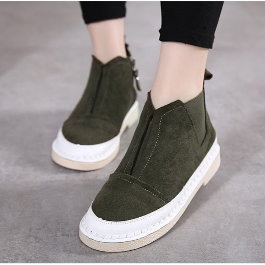 Sport Casual Comfort High Top Shoes Women Ankle Boots Warm Fleece Velvet Bootie Flat Platform Genuine Suede Leather Trainers<br><br>Aliexpress