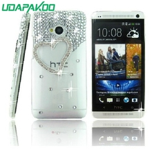 Hard phone case Luxury Diamond Crystal 3D case for HTC Desire 200/One Me/728/210/516 316/816 800/530 630/825(China)