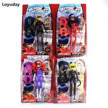 New 29CM Miraculous Ladybug and Cat Toy Lady Bug Doll with Light Music Mask Birthday Gifts Action Figure Toys for Children(China)
