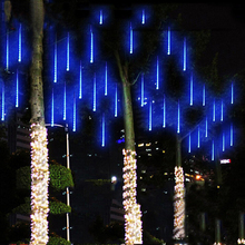 50CM 240LED Meteor Shower Rain Tube LED Christmas Light Wedding Party Garden Xmas String Light Outdoor Holiday Lighting 100-240V(China)