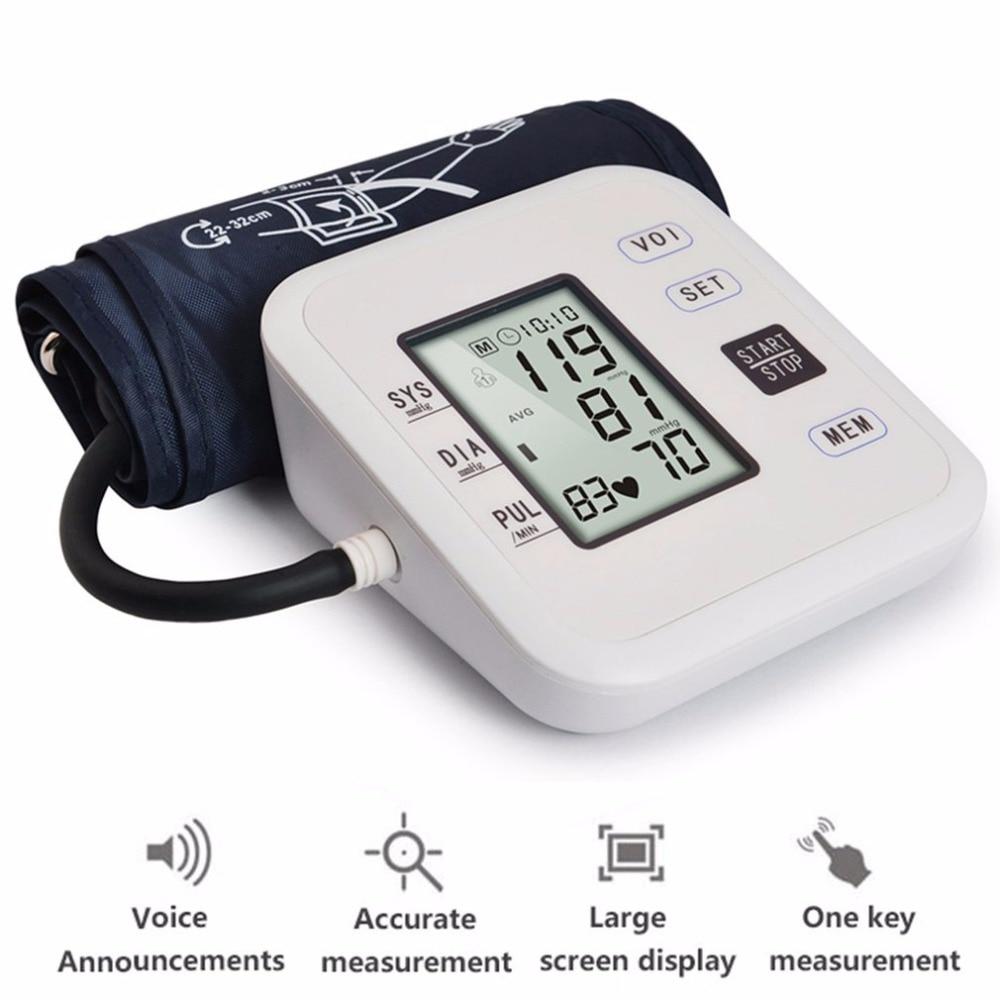 Arm Type Rechargeable Voice Tonometer Smart Digital Pulse Blood Pressure Monitor Health Care Household Sphygmomanometer 10