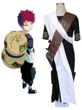 Free Shipping Naruto Shippuden Gaara Black Ninja Uniform Anime Cosplay Costume