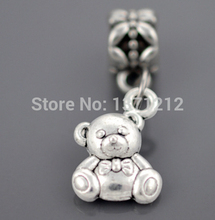 Hot 50pcs Fashion Vintage Silver Teddy bear Charm Pendants For Bracelet Necklace Jewelry Accessories A883