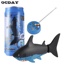 OCDAY Mini RC Submarine 4 CH Remote Small Sharks With USB Remote Control Toy Fish Boat Best Christmas Gift for Children Kids New(China)