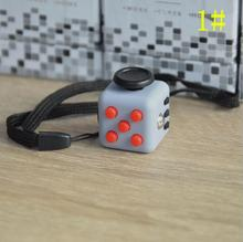 3.3cm Mini Fidget Cube Vinyl Desk Finger Toy Squeeze Fun Stress Reliever 11 Colour Click Glide Flip Spin Breathe Roll