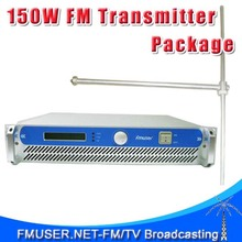 FMUSER FSN-150 150W FM Radio Transmitter + FU-DV1 FM Dipole Antenna + 20m 1/2'' Cable Package for FM Radio Station(China)