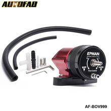 AUTOFAB - Intercooler Recirculating Blow Off Valve BOV Kit Red & Black For Forester Forester 05-07 Turbo/Intercooler AF-BOV999