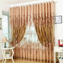 Peony Flower Design Curtain Modern Tulle Drape Panel Sheer Window Curtain Balcony Valances Blind For Living Room Home Decor